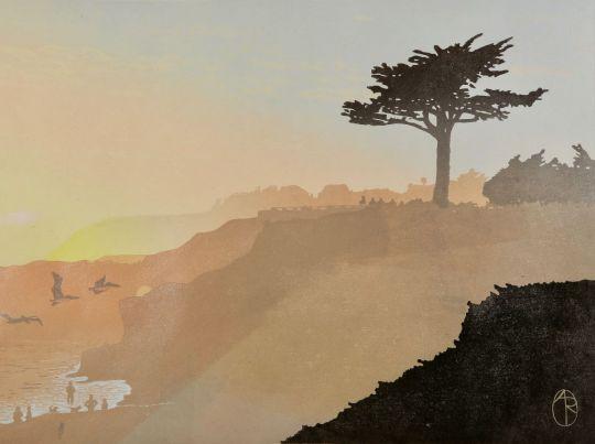 sunset viewed from Westcliff Dr, Santa Cruz CA